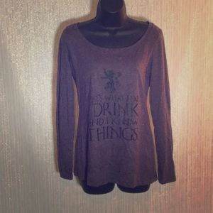 Game Of Thrones Tyrion Lannister Long Sleeve